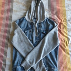 H&M denim hoodie